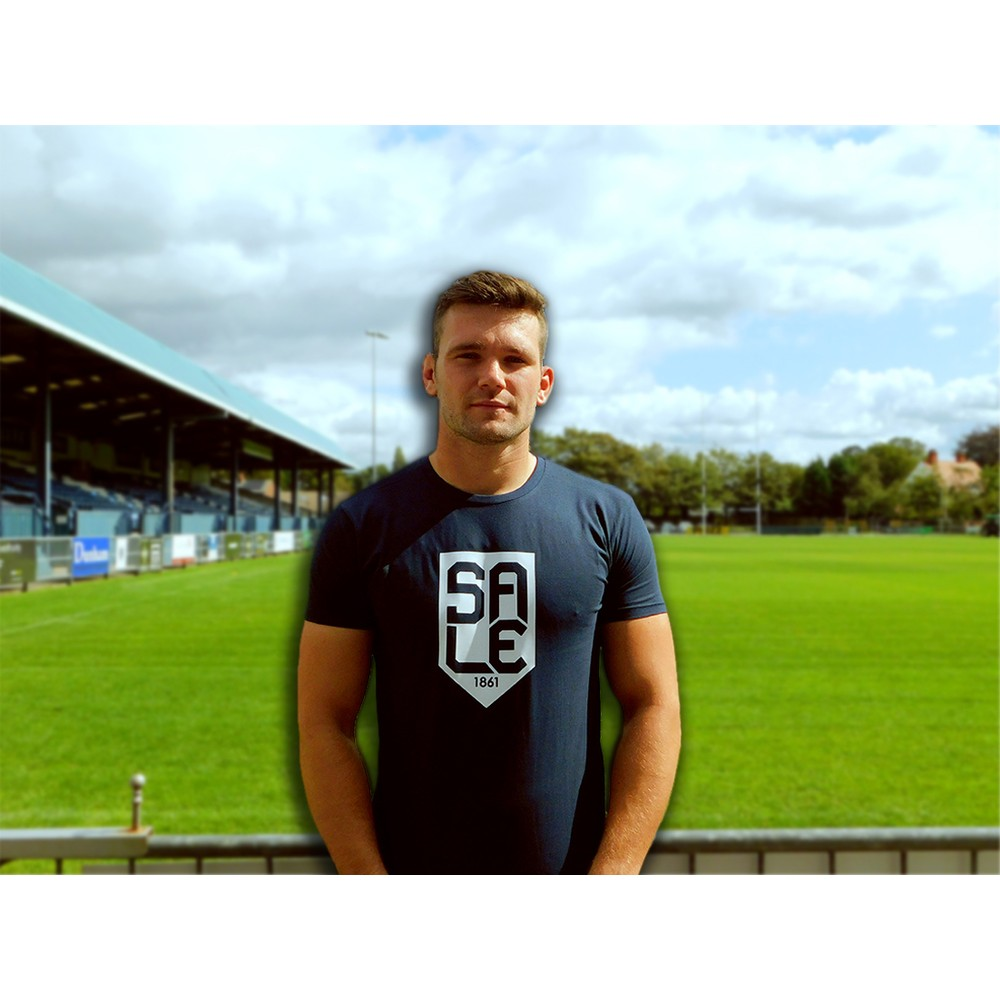 SALE FC RUGBY SALE SHIELD TSHIRT NAVY / WHITE