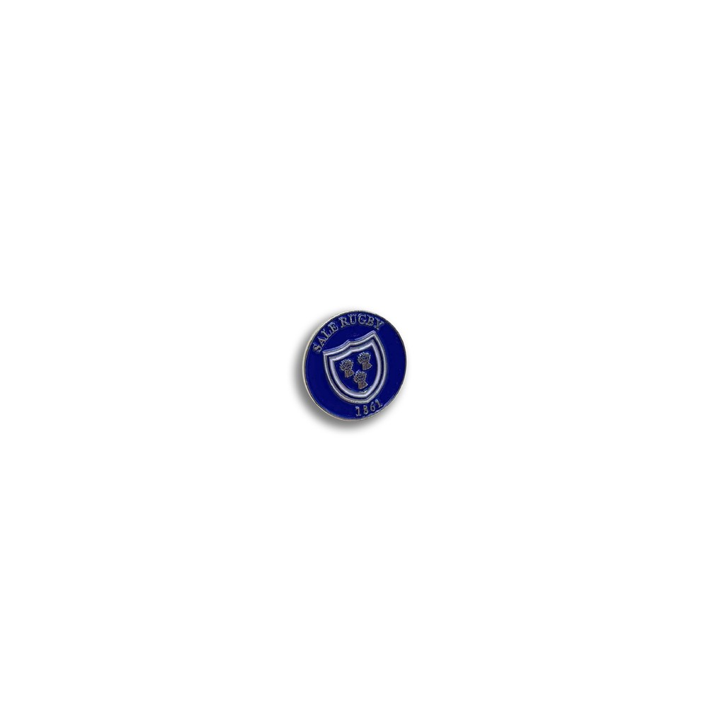 SALE FC RUGBY OLD SCHOOL BADGE ROYAL BLUE