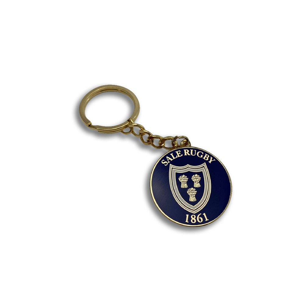 SALE FC RUGBY OLD SCHOOL KEY RING ROYAL BLUE