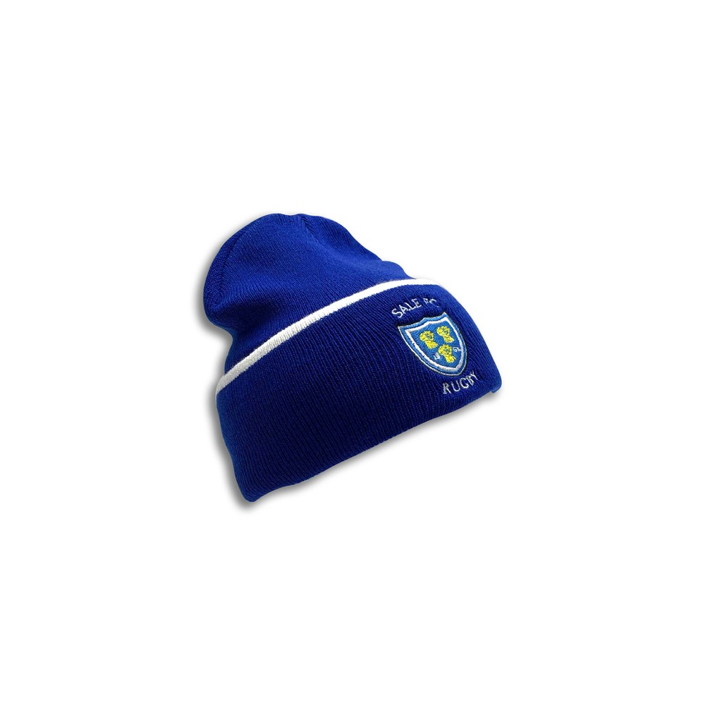 SALE FC RUGBY CREST BEANIE ROYAL BLUE / WHITE