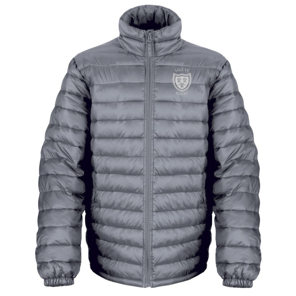 SALE FC RUGBY TEAM PADDED JACKET GREY