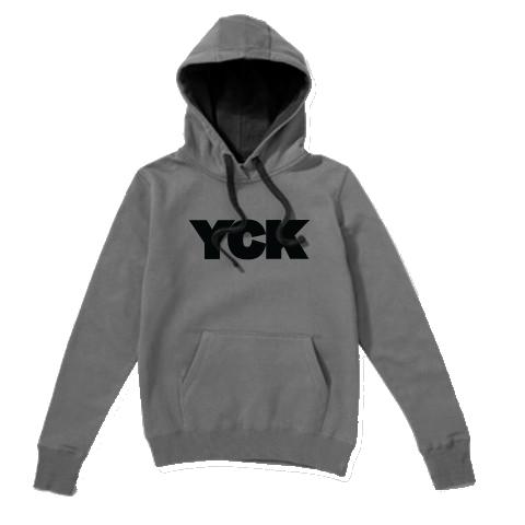 YCK Bold Grey/Black Contrast Hoodie Grey