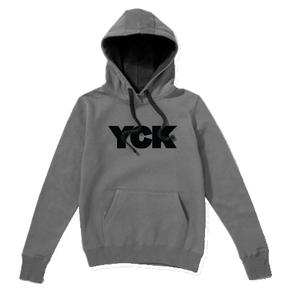 YCK YCK Bold Grey/Black Contrast Hoodie