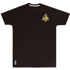 YCK YCK Crest 1868 Black Kids T-Shirt