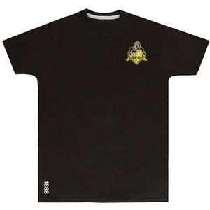 YCK YCK Crest 1868 Black T-Shirt