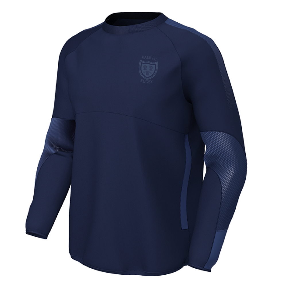 SALE FC RUGBY CONTACT TOP JNR Navy