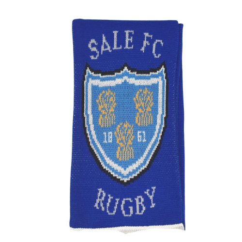 SALE FC RUGBY JAQUARD TEAM SCARF ROYAL BLUE / WHITE