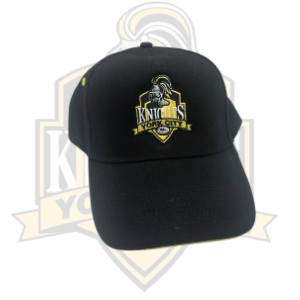 YCK YCK Embroidered Crest Black Cap