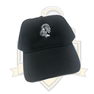 YCK YCK Embroidered Knight Black Cap