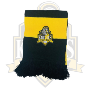 Supro YCK  Black and Amber Bar Scarf Amber