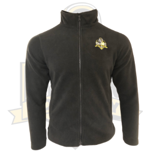 YCK Black Embroidered Crest Fleece Black