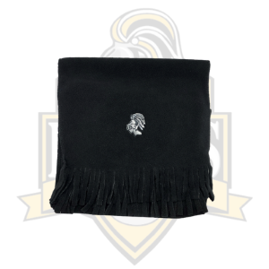 YCK Knight Embroidered Fleece Scarf Black