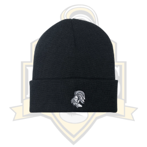 YCK YCK Knight Embroidered Black Beanie Hat