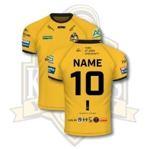 Supro YCK  Team Personalised Semi Fit Replica Shirt - Away Amber