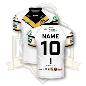 Supro YCK  Team Personalised Semi Fit Replica Shirt - Home White