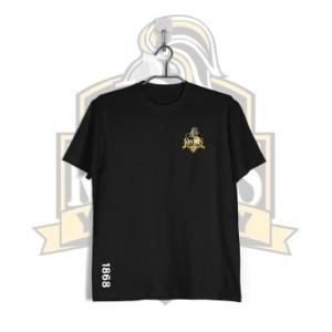 YCK YCK Crest 1868 Black Kids T-Shirt