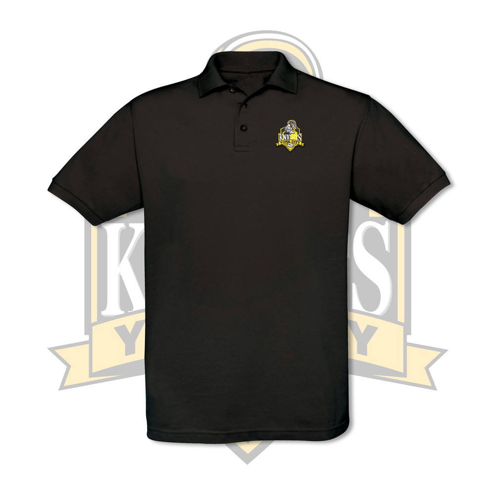 YCK Embroidered Crest Polo Black