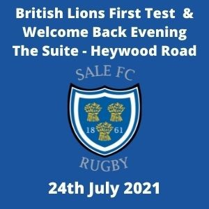 SALE FC RUGBY Welcome Back to Sale F.C - Ticket
