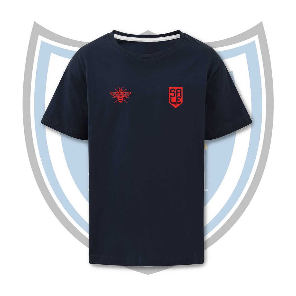 SALE FC RUGBY Sale FC Shield & Bee T-shirt NAVY / RED
