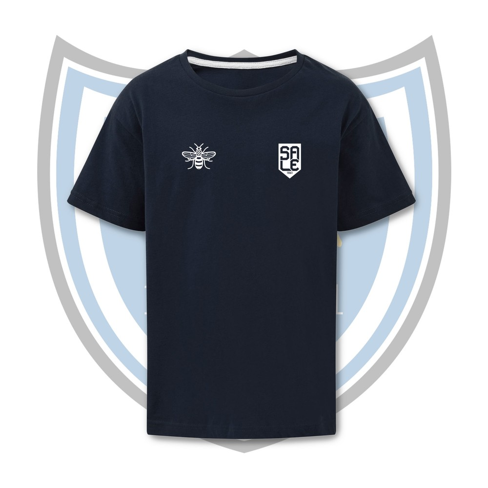 SALE FC RUGBY Sale FC Shield & Bee T-shirt  in NAVY / WHITE