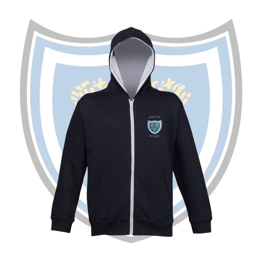 SALE FC RUGBY Sale FC Kids Crest Zipped Varsity Hoodie
