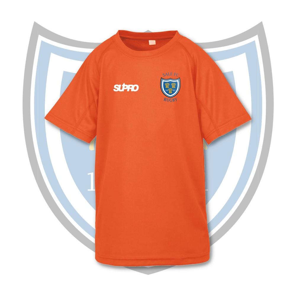 SALE FC RUGBY Sale FC Supro Kids Quick Dry Training T-Shirt - Fluorescent Orange Orange