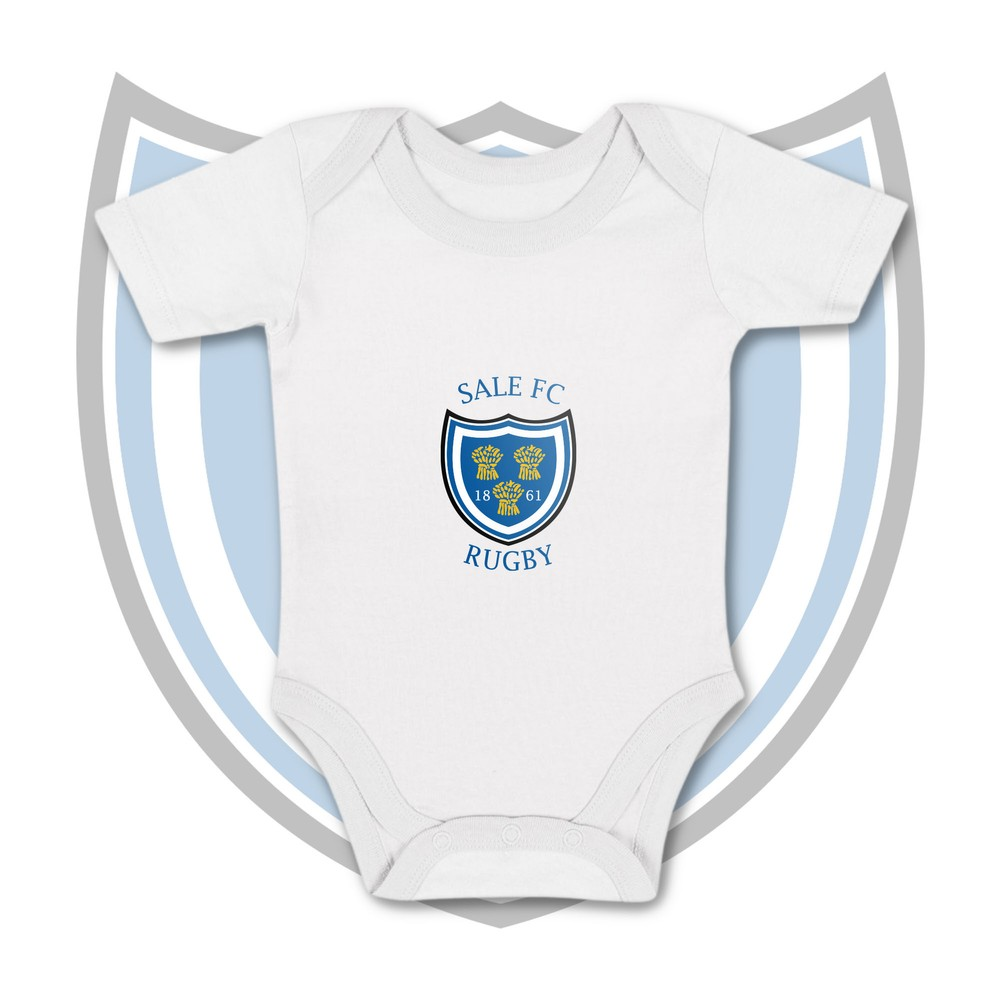 SALE FC RUGBY Sale FC Crest Baby Vest WHITE