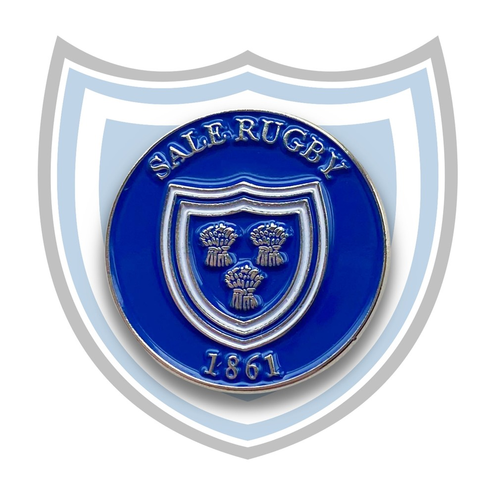 SALE FC RUGBY Sale FC Vintage Style Pin Badge Royal Blue