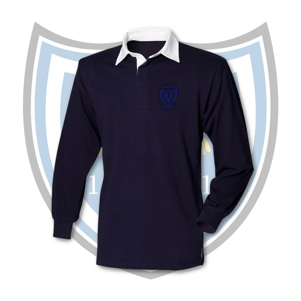 SALE FC RUGBY Sale FC Kids Long Sleeve Super Soft Cotton Rugby Shirt Navy