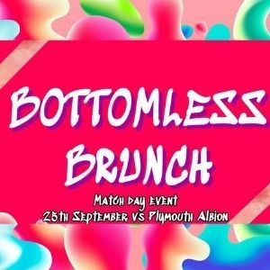 SALE FC RUGBY Bottomless Brunch - 25th September 2021