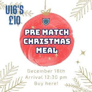 SALE FC RUGBY Sale FC Christmas Meal - 18th December 2021 - U16s