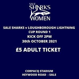 SALE FC RUGBY Sale Sharks Adult Ticket - 30th October 2021