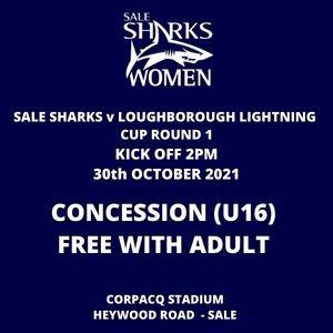 SALE FC RUGBY Sale Sharks Concession Ticket - 30th October 2021
